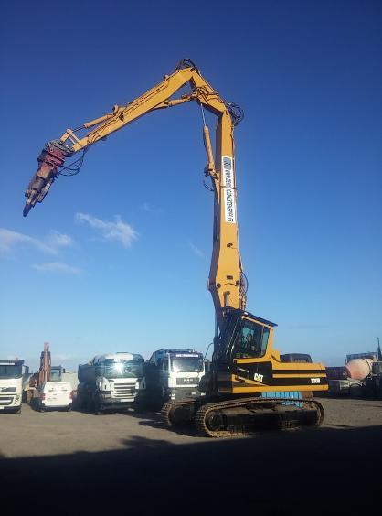 Excavadoras de 40 Tn para demolición largo alcance