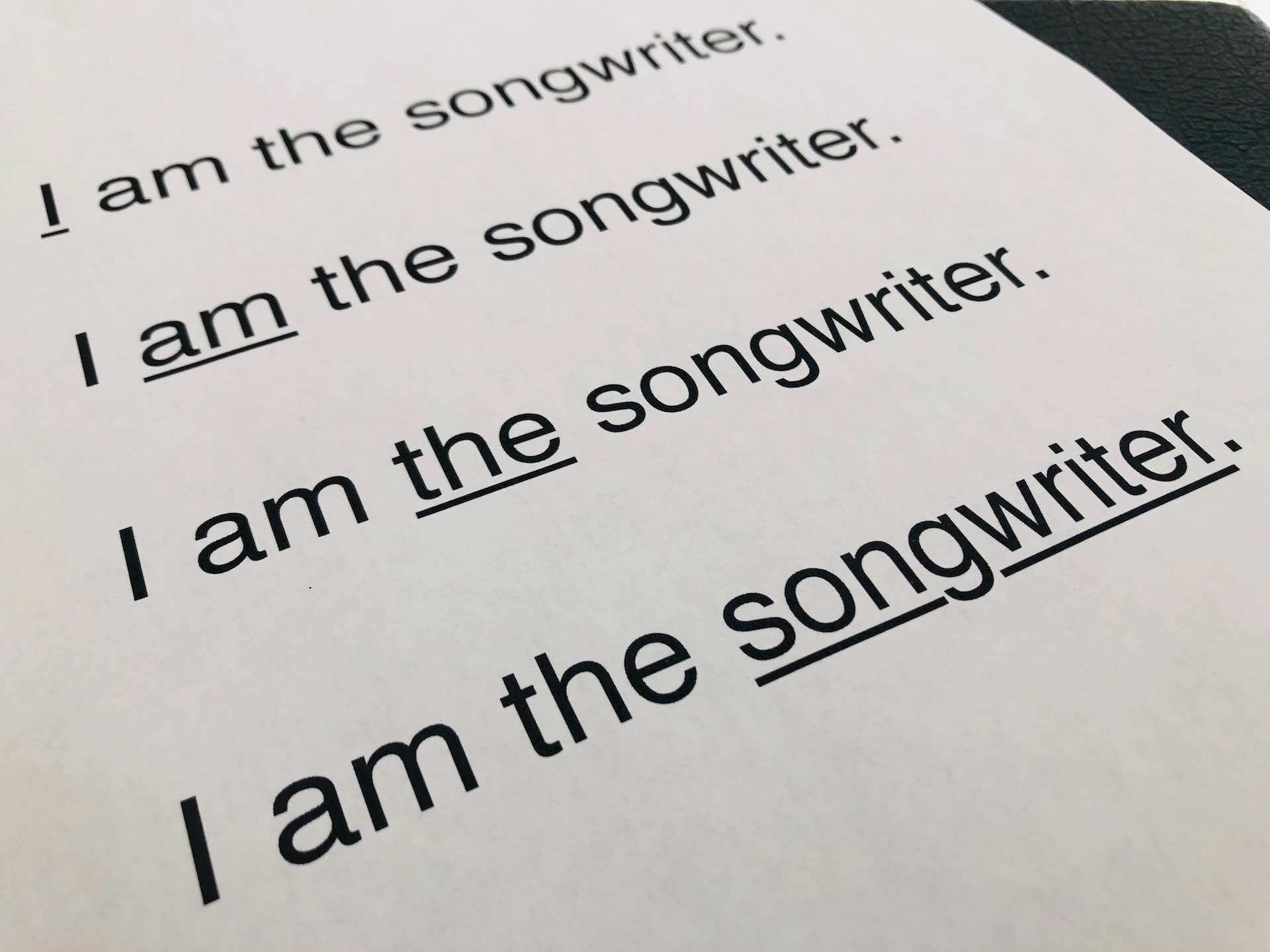 how to write a song | prosody