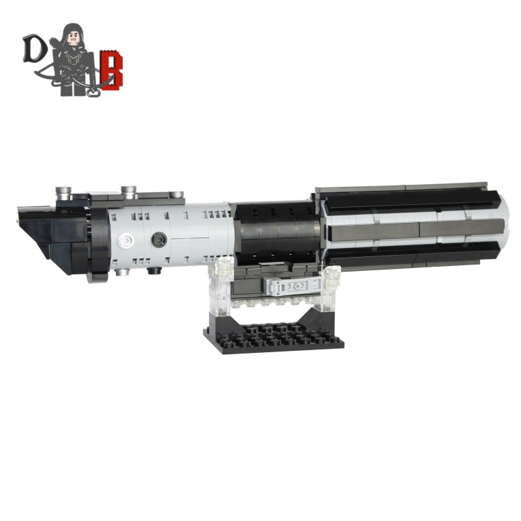 """This listing is for all the parts to build your very own Darth Vader Lightsaber with stand inspired by the Empire Strikes back version, it comes unassembled and upon purchase I will email you a PDF copy of the instructions and send out all the pieces necessary to build it as pictured. This is a 1:1 replica of the Graflex Lightsaber and measures 25.5cm in length and is 8.5cm tall on the stand. Made using 238 genuine LEGO parts only. Each Lightsaber is carefully packaged into a re-sealable bag and shipped in a bubble lined envelope for extra protection. """"LEGO® is a trademark of the LEGO Group of companies. The LEGO Group does not sponsor, authorise or endorse the modified/customised product(s) shown nor does it accept responsibility in any way, shape or form for any unforeseen and/pr adverse consequences following from such customisation/modification.""""*Not associated with Lucas film/Star Wars/Disney."""
