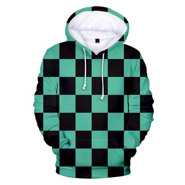 tanjiro haori pattern hoodie