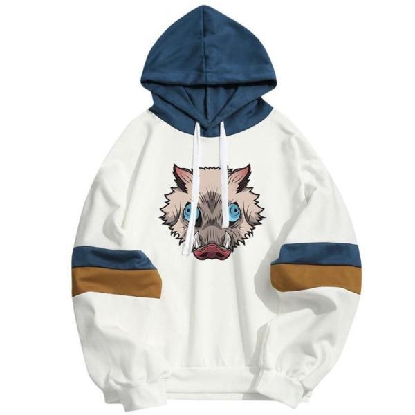 Inosuke Hashibira Streetwear Boar Head Hoodie - Demon Slayer Shop