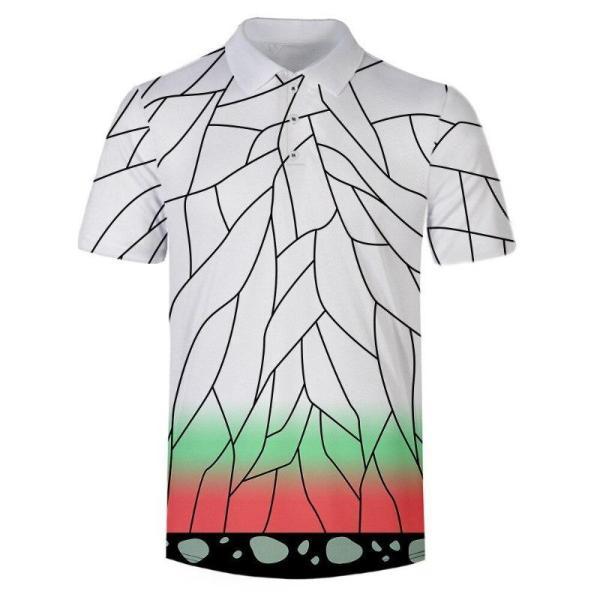 Shinobu Kocho Pattern Polo Shirt - Demon Slayer Merch