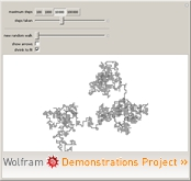 """Lattice Random Walk in 2D"" from the Wolfram Demonstrations Project"