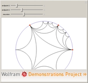 """""""Poincaré Hyperbolic Disk"""" from the Wolfram Demonstrations Project"""