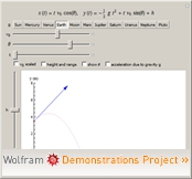 Wolframdemonstration: Projectile Motion
