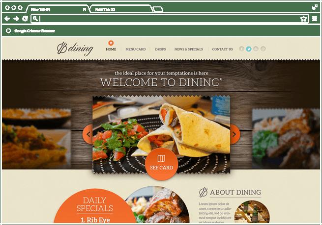 DINING Website re-design