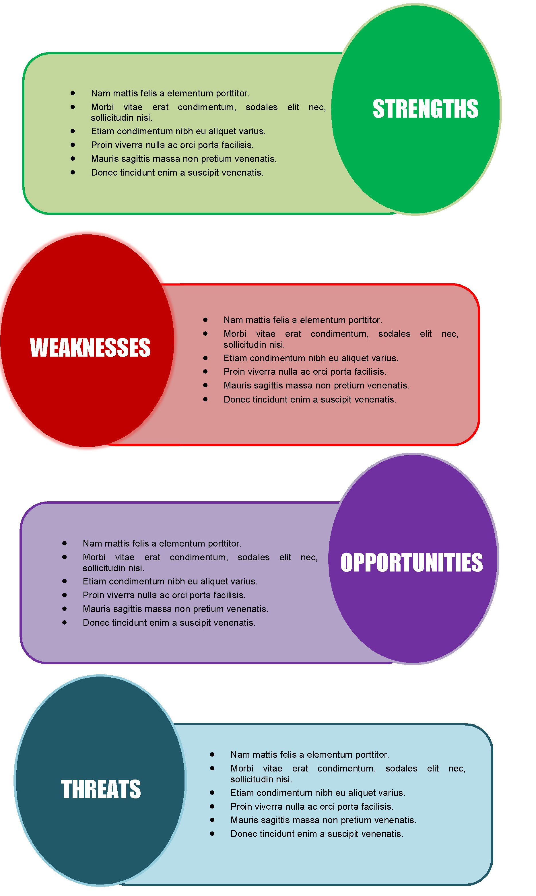 Swot Analysis Diagram Template swot powerpoint diagrams and – Microsoft Word Diagram Templates