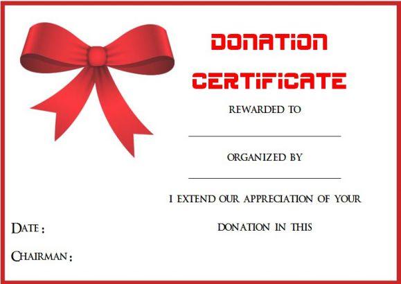 22 Legitimate Donation Certificate Templates For Your Next