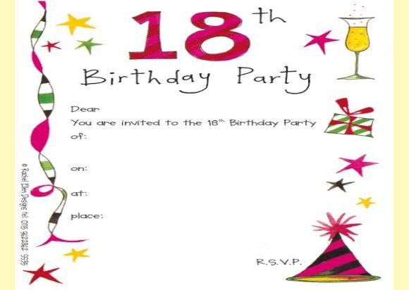 elegant 18th birthday invitation card