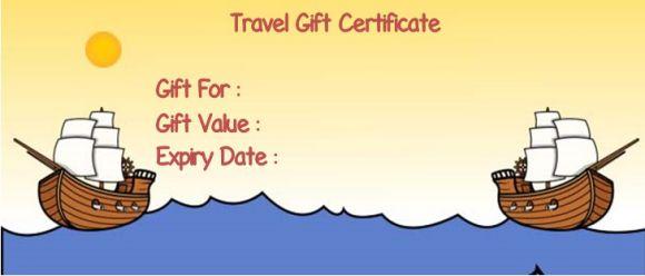 vacation certificates vouchers