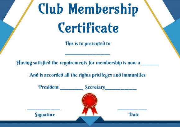 Free Membership Certificates 14 Templates In Word Format