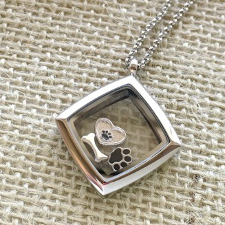 Silver-tone Love Locket with assorted charms - charms start at $15 and lockets at $80