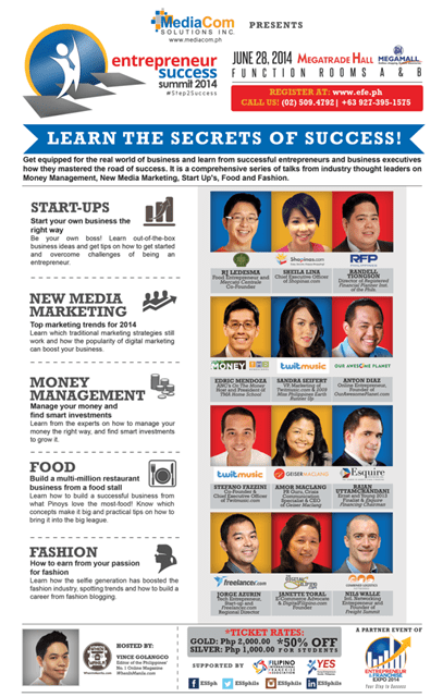 "Learn the secrets of success at ""Entrepreneur Success Summit 2014"""