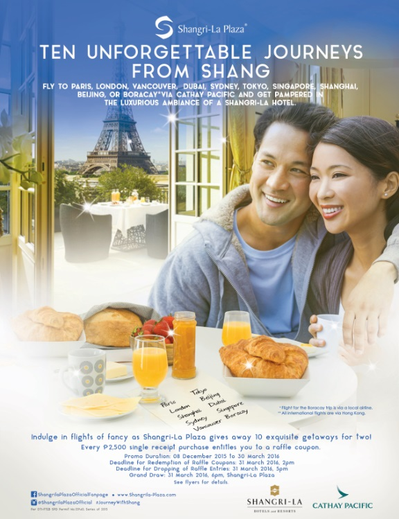 Travel the world's best destinations with the Shang's grand raffle promo