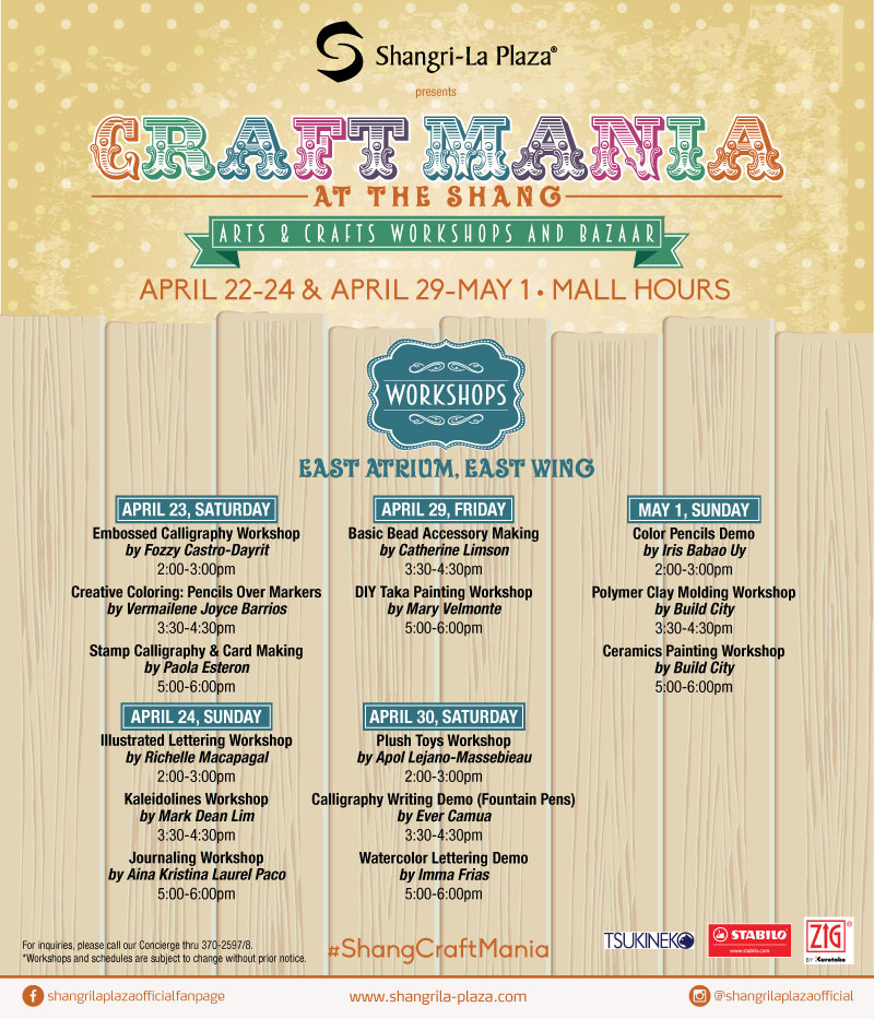 Shang-Craft-Mania-2016-Workshops
