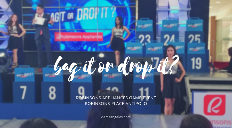 "Everyone Goes Home A Winner with Robinsons Appliances' ""Bag It or Drop It"""