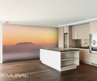 Photo wallpapers for Kitchen   Demural     foggy hills kitchen wallpaper mural photo wallpapers demural