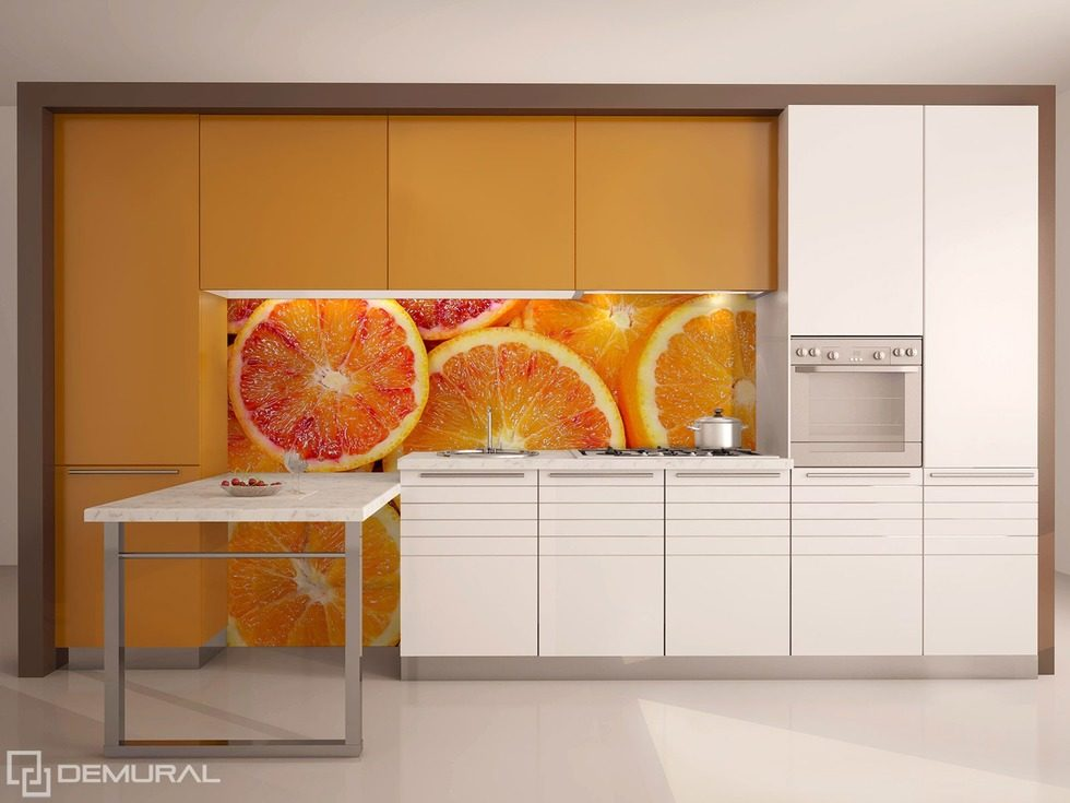Juicy citruses on the wall   Kitchen wallpaper mural   Photo     Juicy citruses on the wall Kitchen wallpaper mural Photo wallpapers Demural