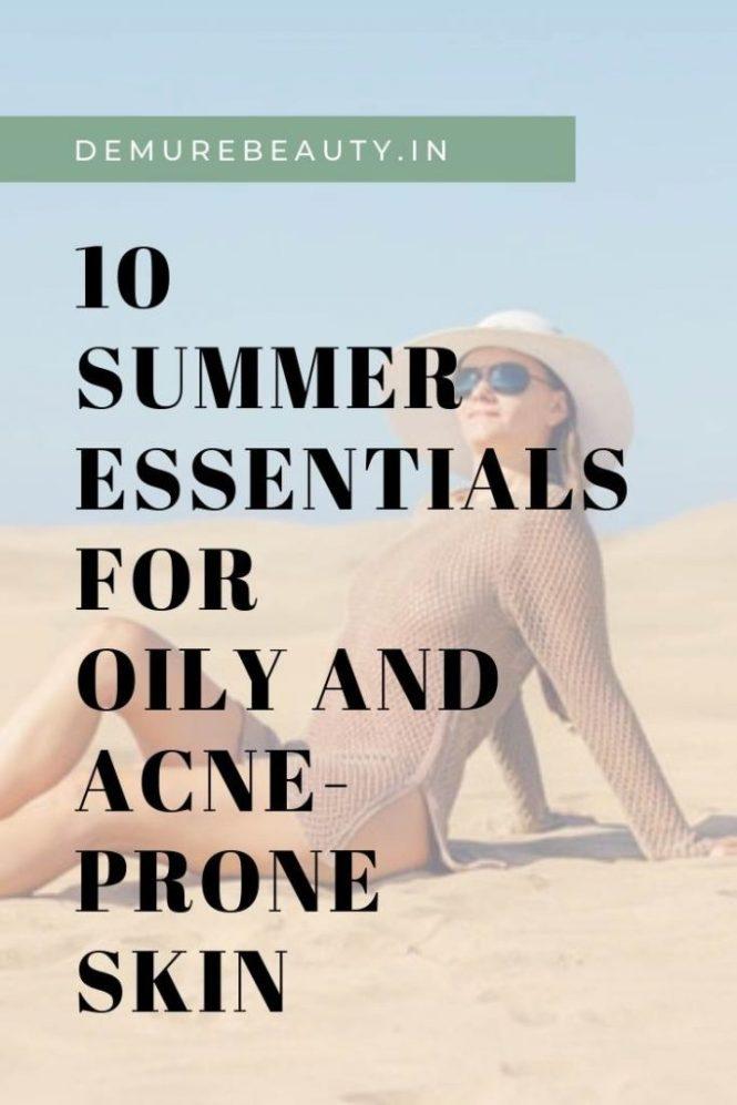 summer oily skin essentials