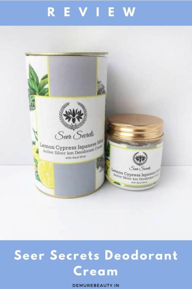 Green Beauty. Clean beauty product. Seer secrets deodorant cream review