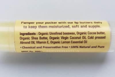 raw rituals lemon lip butter review