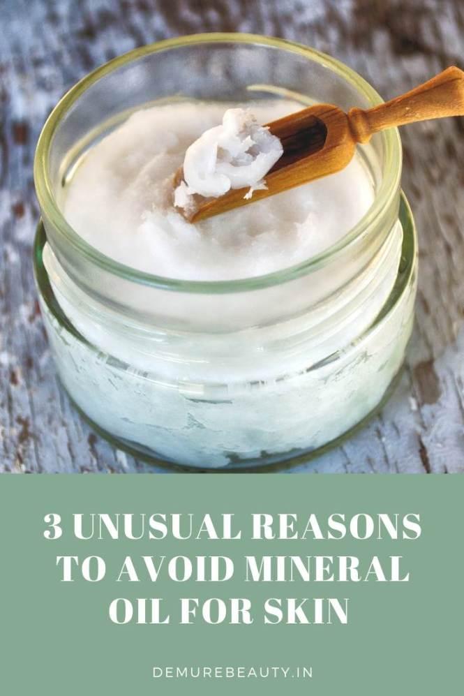 avoid mineral oil for skin