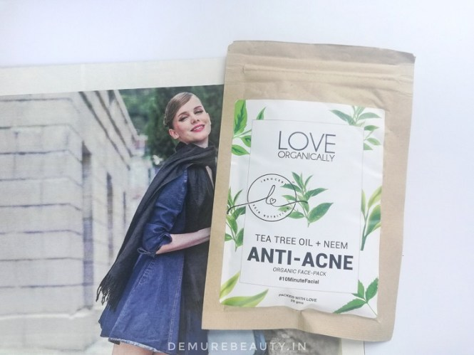 love organically anti acne face pack