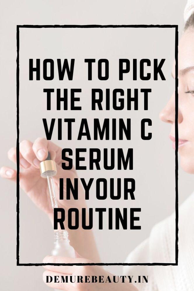use vitamin c serum