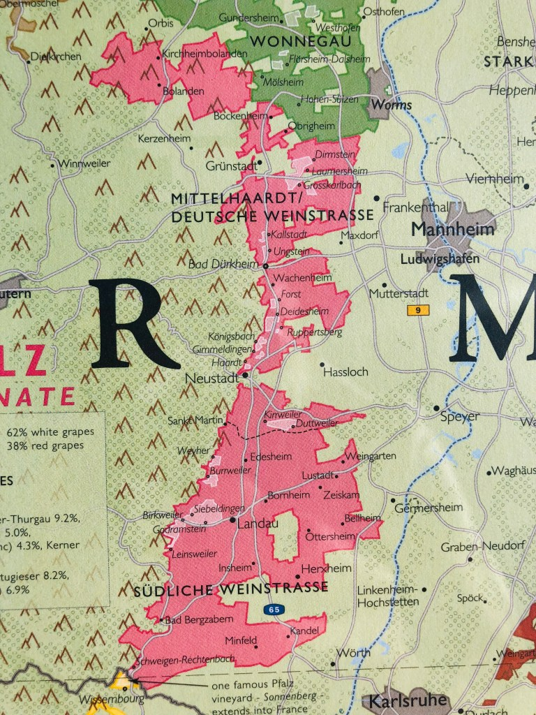 Map Of Kaiserberg France.Pfalz Wine Demystifying The Vine