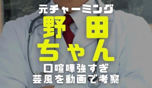 野田ちゃんの芸歴|チャーミング時代と現在の口喧嘩強すぎる芸風比較