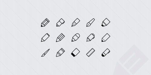 Free Writing Implements Icons 12