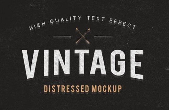den i Freebie Vintage and Grunge Text Effects 01 Freebie: Vintage and Grunge Text Effects