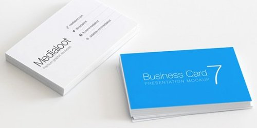 real life business card mockup - Free Real-Life Business Card Mockup