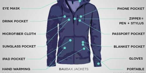 baubax jacket - TRAVEL JACKET with 15 Features by BAUBAX