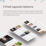 3 post layouts options - Feminine WordPress Theme For Fashion, Lifestyle, Travel and Beauty Bloggers