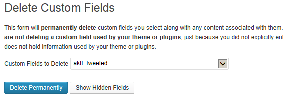 2 Ways To Delete Custom Fields From Post Meta Tables 1