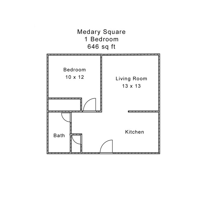 Medary Square 1 Bedroom