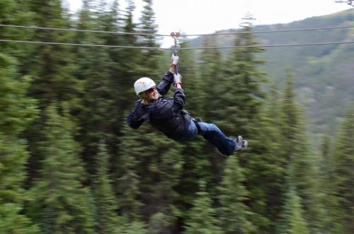 Ziplining in Breckenridge