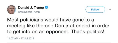 Trump Tweet Russian Lawyer Meeting