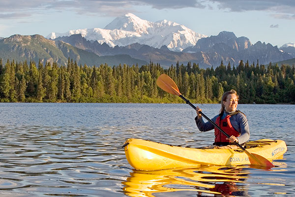 Guided Kayak Tours and Kayak Rentals at Byers Lake in Denali State Park, Alaska