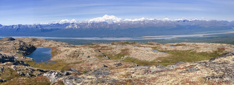 View of Alaska Range and Denali from Kesugi Ridge