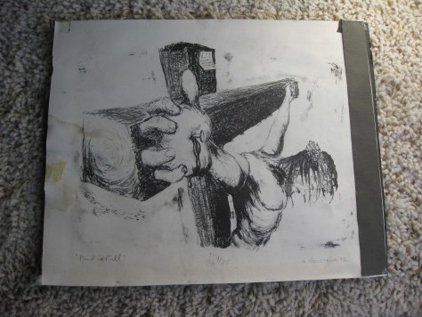 Christ on cross drawing