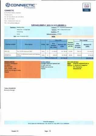 RANARISON Tsilavo ont signé les bons de commande de EMERGENT pour WESTCON Africa_Page15