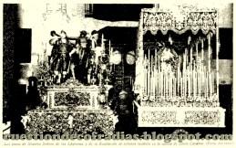 Hermandad de la Exaltación preparada para realizar su estación de penitencia en 1933
