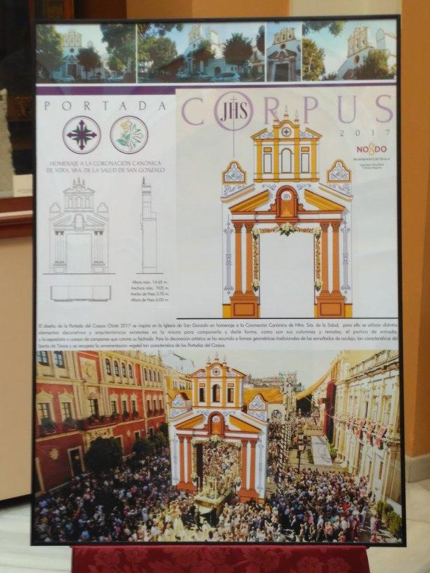Portada del Corpus 2017 con la fachada de la parroquia de San Gonzalo
