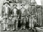 Four workers from the Bog shaft at Erryrys 1890, PPD/43/12