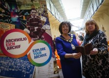 Ann Davies and Hazel Thomas (National Library of Wales)