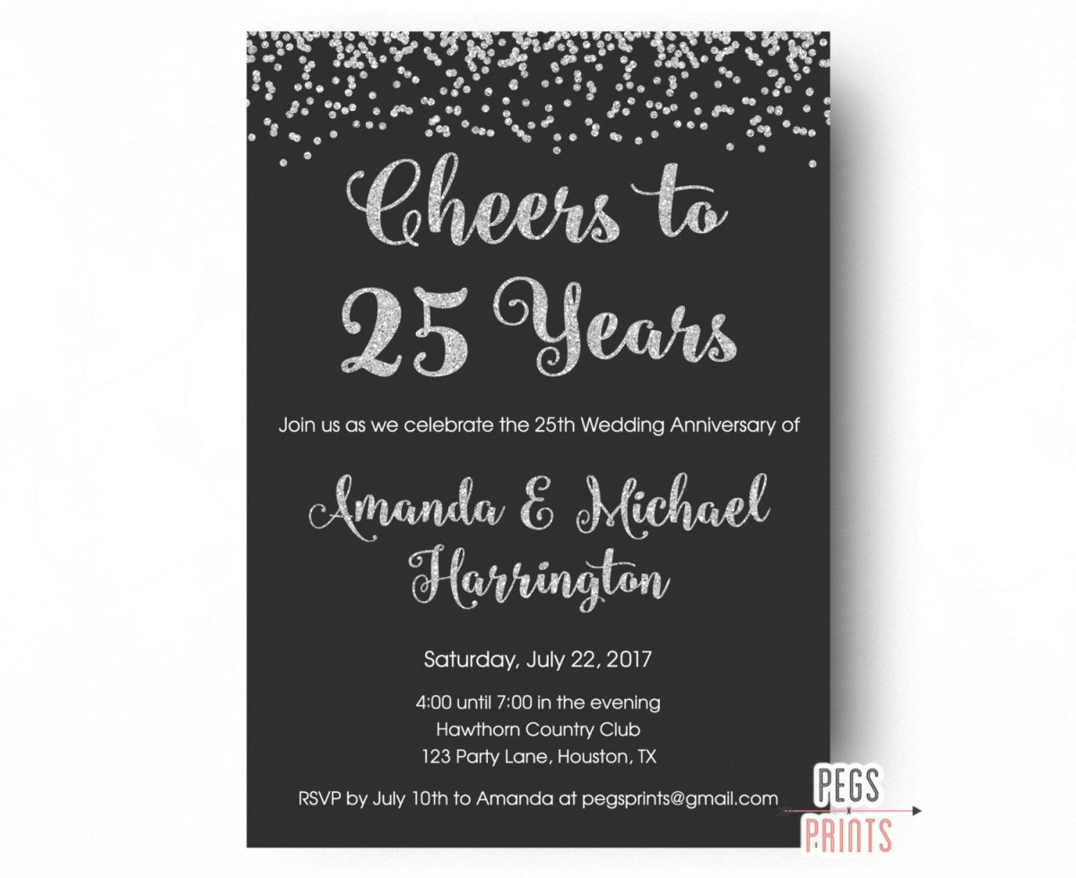 27+ Excellent Image of 25Th Wedding Anniversary Invitations