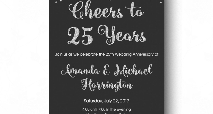 25Th Wedding Anniversary Invitations 25th Anniversary Invitations Printable 25th Wedding Anniversary