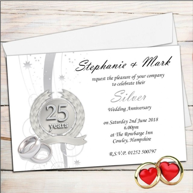25Th Wedding Anniversary Invitations 25th Wedding Anniversary Invitations Marina Gallery Fine Art